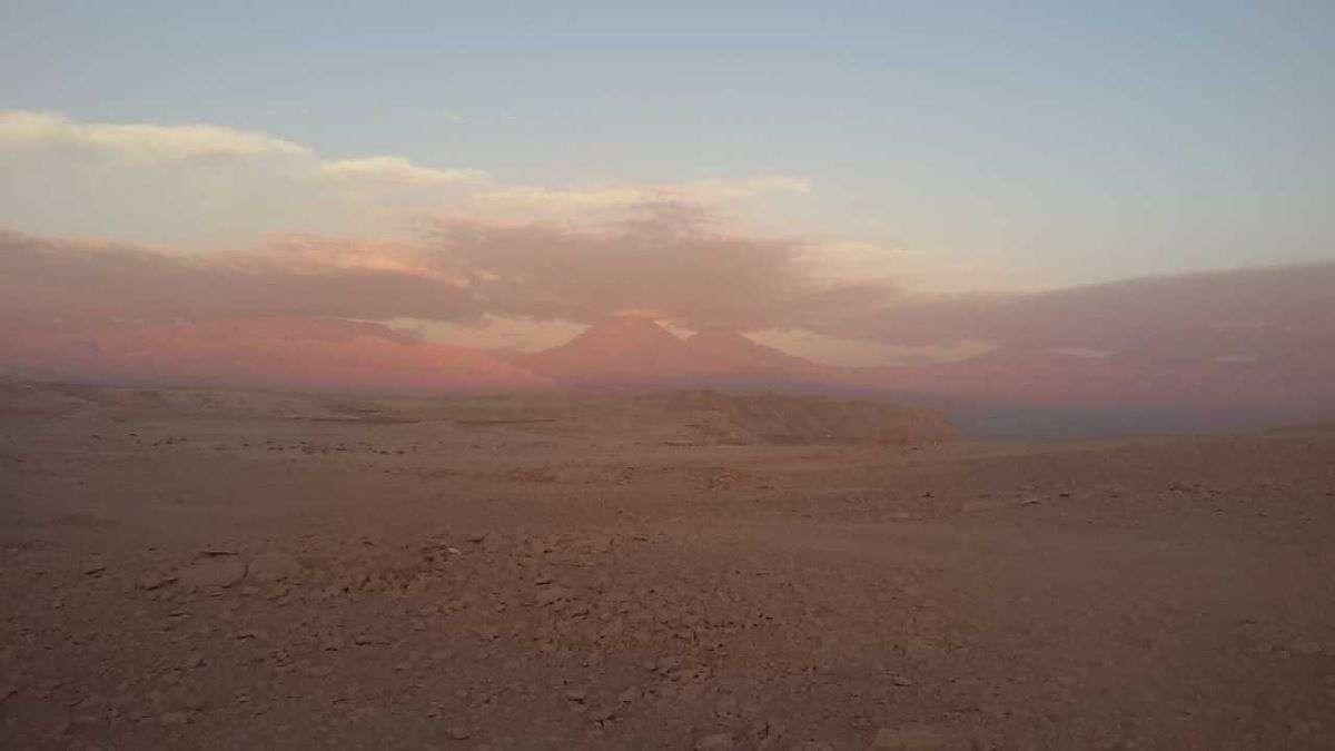 Viaggio in Cile tramonto