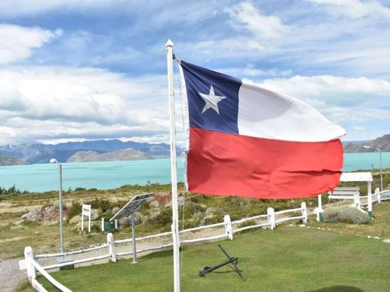 Bandiera del Cile a Candelario Mancilla