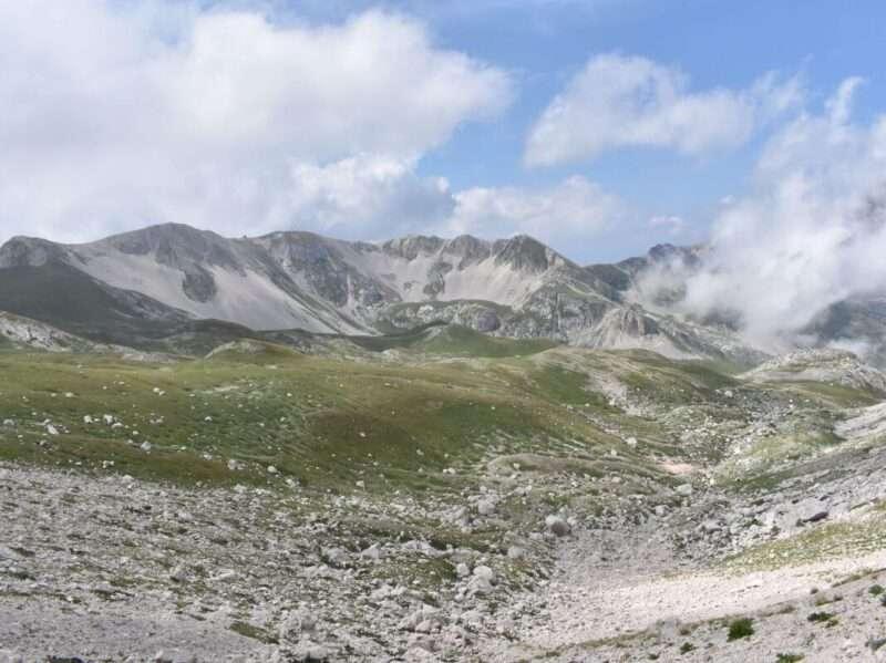 Gran Sasso panorama verso valle