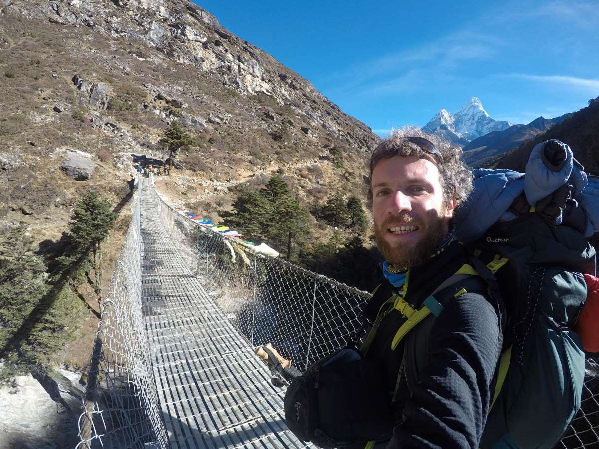 Io e Ama Dablam verso Everest Base Camp