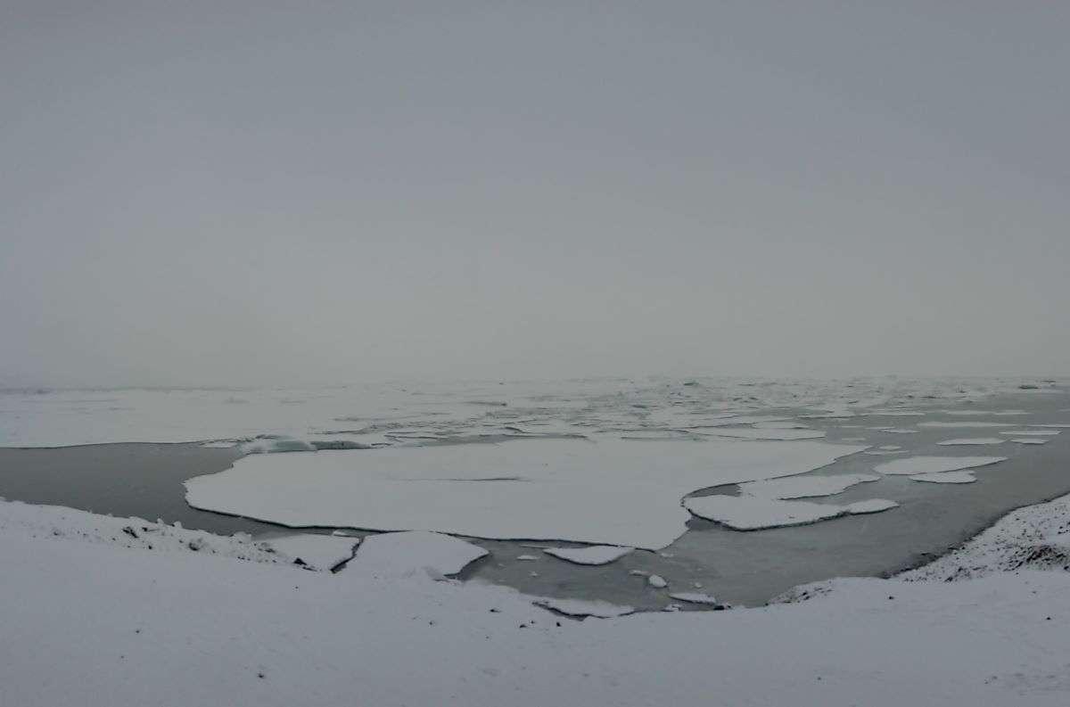 Islanda in inverno laguna Jokulsarlon