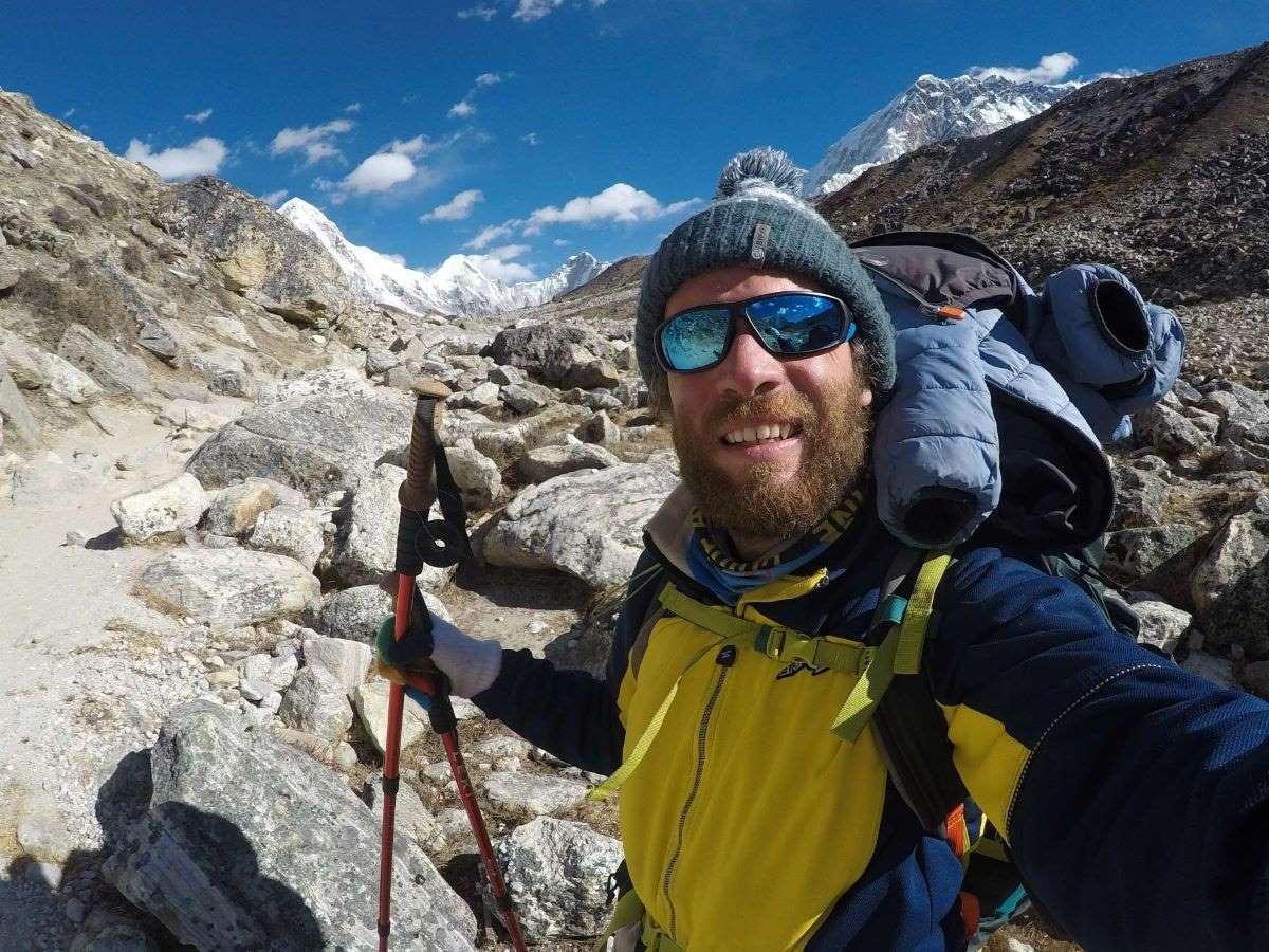 Scendendo da Lobuche ed Everest Base Camp