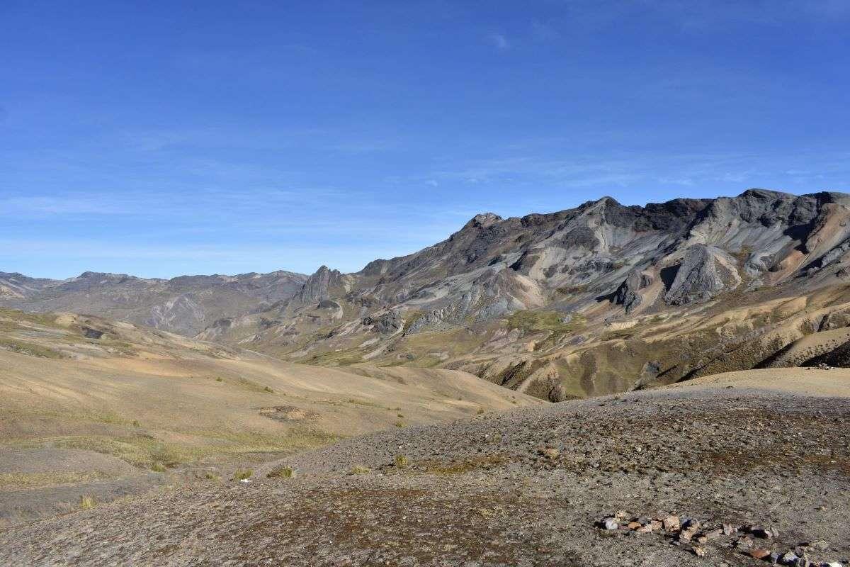 Vista dal primo passo trekking Ausangate